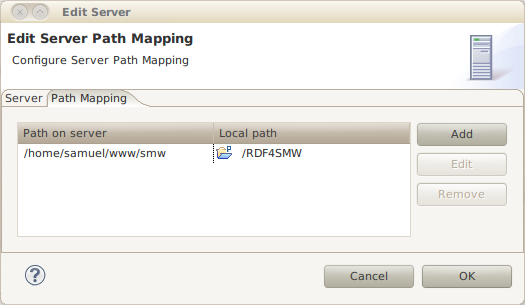 Path mapping config