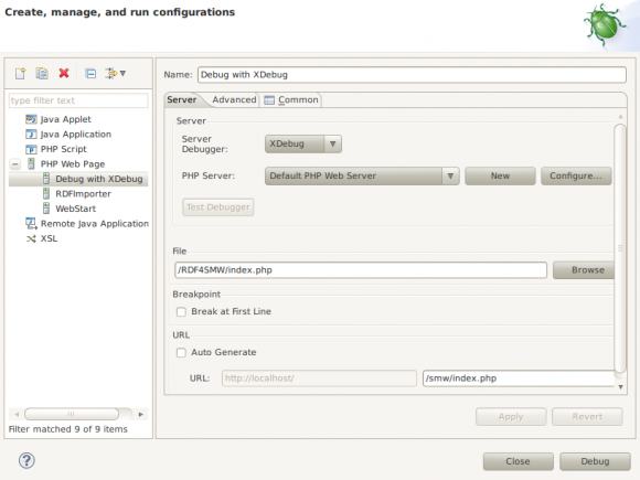 XDebug Config Dialog in Eclipse (4)